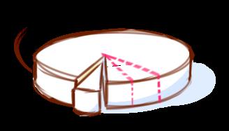 Découpe des fromages ronds