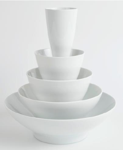 Reichenbach vase porcelaine blanche Masaai