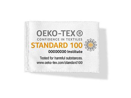 Etiquette avec le label Oeko-Tex